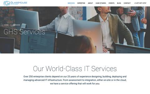 Screenshot of Services Page ghsystems.com - IT Services Delivered Onsite or in the Cloud | GHS - captured Aug. 5, 2017