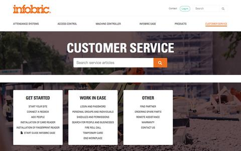Screenshot of Support Page infobric.co.uk - Customer service - Infobric UK - captured Jan. 12, 2017