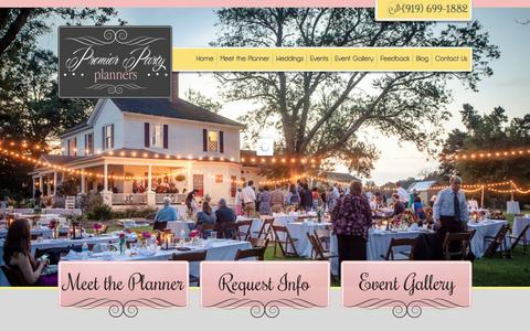 Screenshot of Home Page premierpartyplanners.com - Premier Party Planners: Affordable event planning at your finger tips. - captured Dec. 11, 2015
