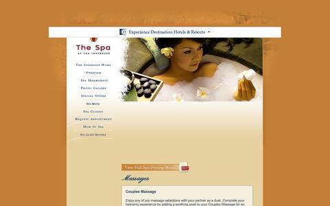 Screenshot of Services Page invernesshotel.com - Denver Day Spas | The Inverness Hotel and Conference Center - Services | Spa Denver CO - captured Oct. 6, 2014