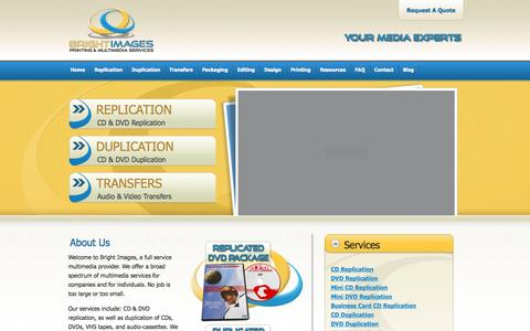 Screenshot of Home Page brightimagesmedia.com - Bright Images: Your Media Experts - captured Oct. 5, 2014