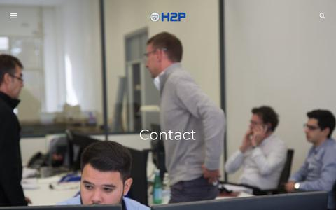 Screenshot of Contact Page h2psystems.com - Contact - H2P engines turn waste heat into power - captured July 14, 2018