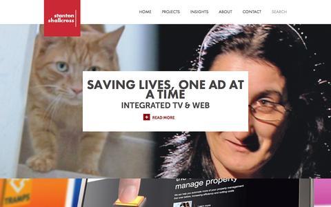 Screenshot of Case Studies Page stantonshallcross.com - Website design & development, marketing and advertising projects | Cambridge - captured Sept. 30, 2014