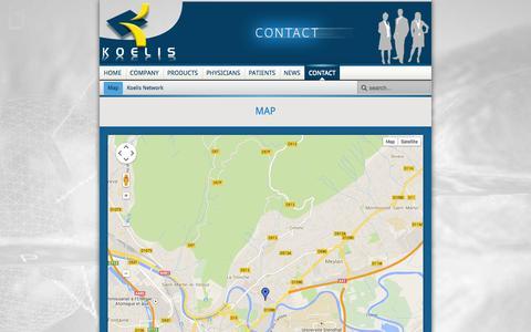 Screenshot of Maps & Directions Page koelis.com - Map - captured Sept. 30, 2014