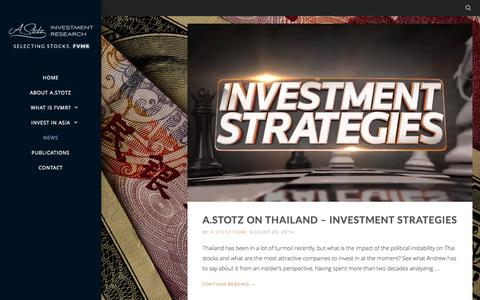 Screenshot of Press Page astotz.com - News | A.Stotz Investment Research - captured Nov. 2, 2014