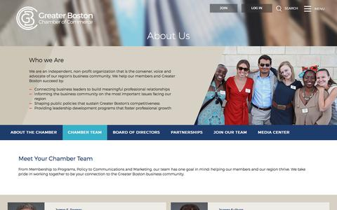 Screenshot of Team Page bostonchamber.com - Chamber Team | Greater Boston Chamber of Commerce - captured Sept. 19, 2017