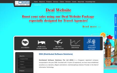 Screenshot of About Page dss.com.sg - Distributed Software Solution Pte Ltd. - captured Oct. 5, 2014