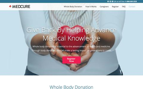 Screenshot of FAQ Page medcure.org - Give back with MEDCURE | MEDCURE.org - captured Aug. 10, 2016