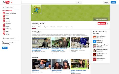 Screenshot of YouTube Page youtube.com - Guiding Stars  - YouTube - captured Oct. 23, 2014