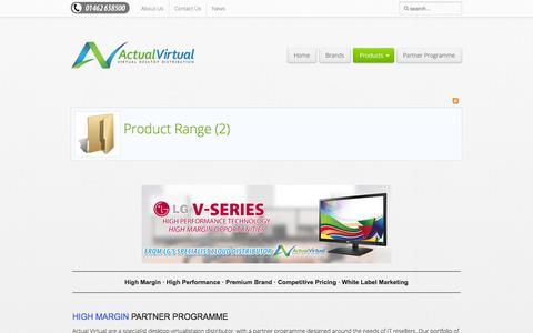 Screenshot of Products Page actualvirtual.co.uk - Product Range - Actual Virtual - captured Oct. 29, 2014
