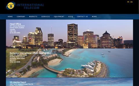 Screenshot of Locations Page ittelecom.com - Locations - IT International Telecom Inc. - captured Nov. 12, 2018