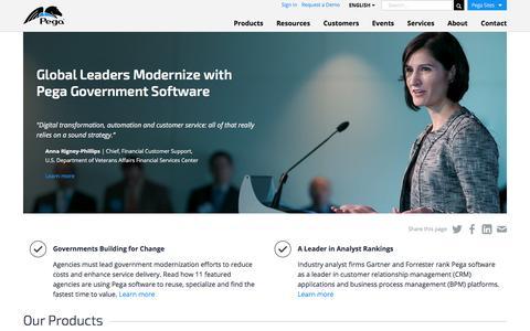 Digital Government Modernization Software: CRM & BPM | Pega