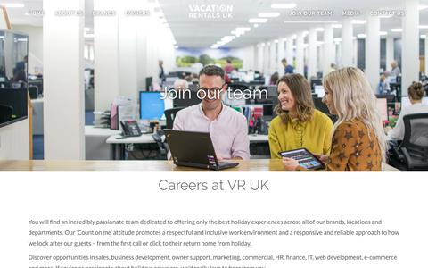 Screenshot of Jobs Page wynvr.co.uk - Careers at Vacation Rentals UK - captured Nov. 15, 2018