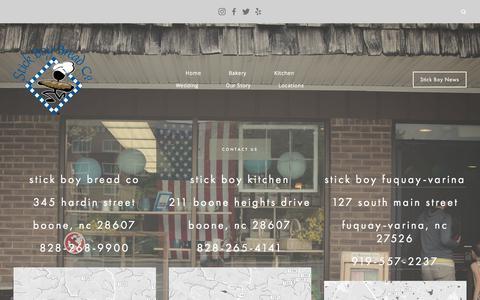 Screenshot of Locations Page stickboybread.com - Locations — Stick Boy Bread Company - captured Oct. 28, 2017