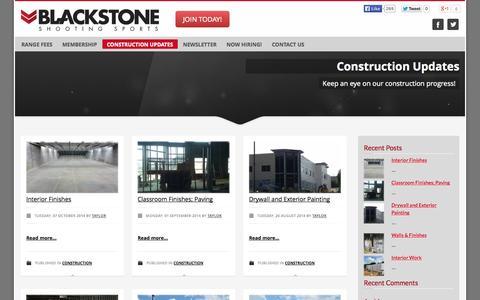 Screenshot of Blog blackstoneshooting.com - Blog - Blackstone Shooting Sports | Indoor Range & Retail Store in Charlotte, NC - captured Oct. 9, 2014