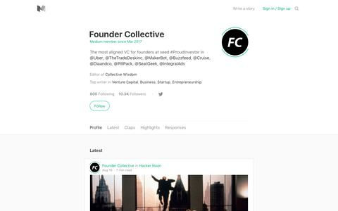 Founder Collective – Medium