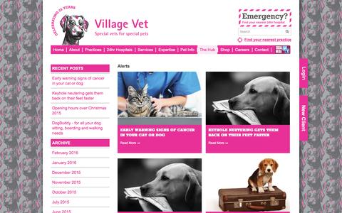 Screenshot of Press Page villagevet.co.uk - News - Village VetVillage Vet - captured Feb. 14, 2016