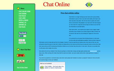 Screenshot of Home Page chat-rooms-online.com - Chat Online Free Chat Rooms Online for Teens Singles & Kids - captured June 19, 2015