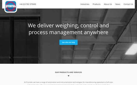 Screenshot of Home Page promtek.com - Weighing, control, and process management // Promtek - captured Dec. 13, 2015