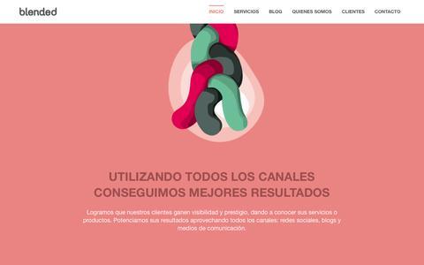 Screenshot of Home Page blended.es - Blended Comunicación - captured Oct. 5, 2014