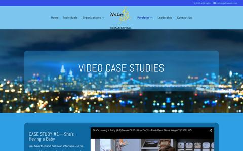 Screenshot of Case Studies Page getnotus.com - Case Studies | Notus Human Capital - captured Feb. 15, 2016