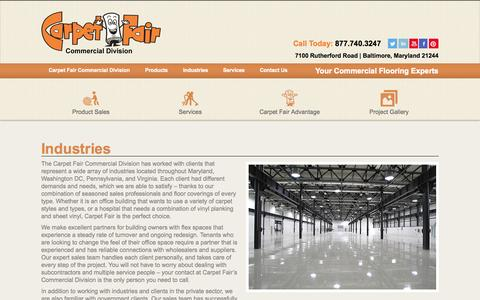 Screenshot of Developers Page carpetfaircd.com - Washington, DC Commercial Flooring Industries - captured Oct. 2, 2014