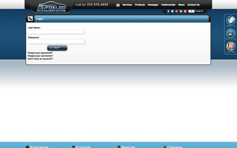Screenshot of Login Page autoxloo.com - Sign in - AutoXloo Dealer Management Systems - captured Sept. 30, 2014