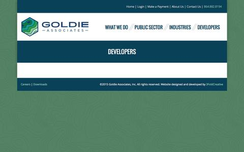 Screenshot of Developers Page goldieassociates.com - Developers - Goldie Associates - captured Dec. 12, 2015