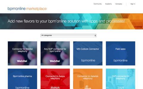 Bpm'online marketplace