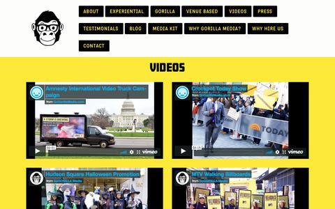 Screenshot of Case Studies Page gogorillamedia.com - VIDEOS — GoGORILLA Media - captured March 10, 2018
