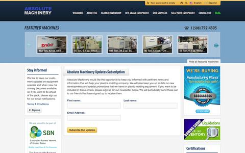 Screenshot of Signup Page absolutemachinery.com - Sign Up Our Newsletter - captured Oct. 4, 2014
