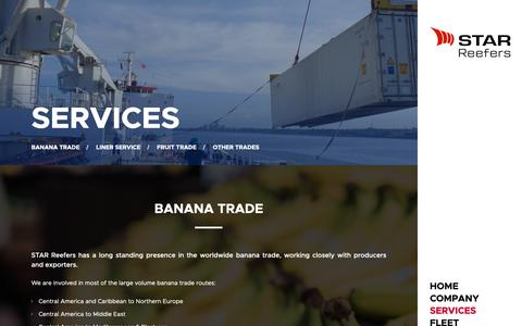 Screenshot of Services Page star-reefers.com - Services | STAR Reefers - captured May 29, 2019