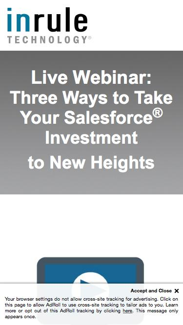 Live Webinar - Three Ways to Take Your Salesforce Investment to New Heights