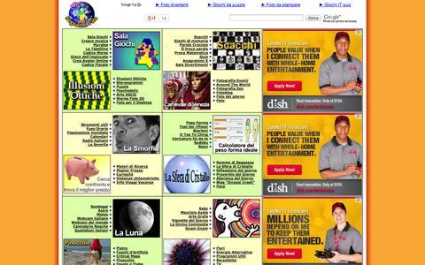 Screenshot of Home Page segnalidivita.com - Segnali di Vita - captured Sept. 23, 2014