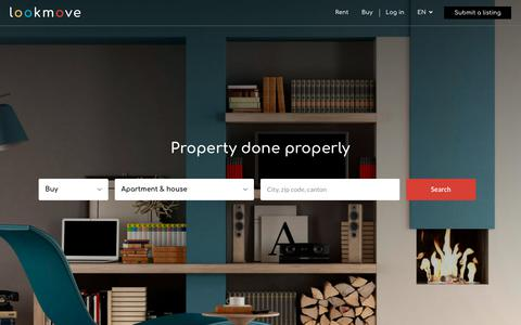 Screenshot of Home Page lookmove.ch - lookmove.ch | L'immobilier bien rangé - www.lookmove.ch - captured Nov. 9, 2018