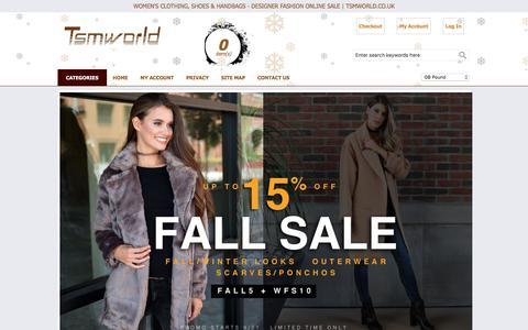 Screenshot of Home Page tsmworld.co.uk - Women's Clothing, Shoes & Handbags - Designer Fashion Online Sale | Tsmworld.co.uk - captured Dec. 6, 2016