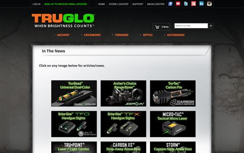 Screenshot of Press Page truglo.com - TRUGLO® | In The News - captured Feb. 15, 2016