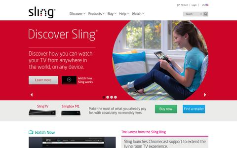 Screenshot of Jobs Page sling.com - Slingbox.com - captured Oct. 22, 2014