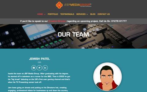 Screenshot of Team Page jspmediagroup.com - OUR TEAM – JSP Media Group - captured Nov. 6, 2018