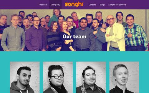 Screenshot of Team Page musicportal.fi - Our team   Songhi Entertainment - captured Oct. 7, 2014