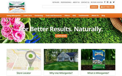 Screenshot of Home Page milorganite.com - Milorganite - Fertilizer For Better Results Naturally - captured Nov. 8, 2017