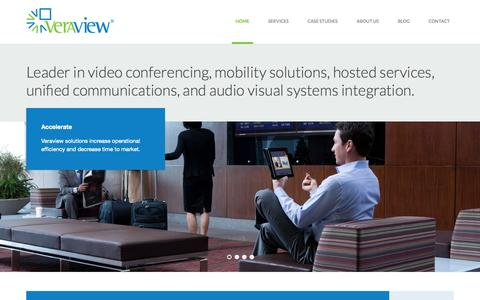 Screenshot of Home Page veraview.com - Video Conferencing, Distance Learning, Interactive Classrooms, Audio Visual, Digital Signage | Veraview - captured Oct. 6, 2014