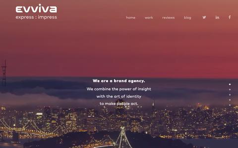 Screenshot of Home Page evvivabrands.com - Home - Evviva Brands - captured Nov. 5, 2018