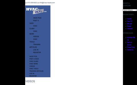Videos | HVAC Hacks