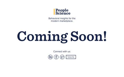 People Science - Behavioral insights for the modern marketplace.