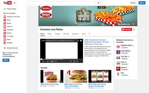Screenshot of YouTube Page youtube.com - Checkers and Rallys  - YouTube - captured Oct. 22, 2014