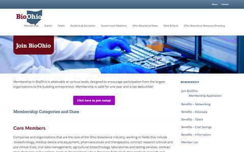 Screenshot of Signup Page bioohio.com - Join BioOhio   BioOhio - captured Jan. 8, 2017