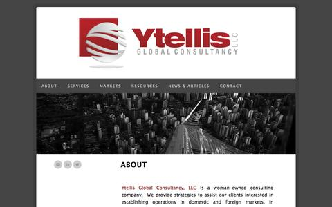 Screenshot of Home Page ytellisglobalconsultancy.com - Ytellis Global Consultancy, LLC | ABOUT - captured Oct. 6, 2014