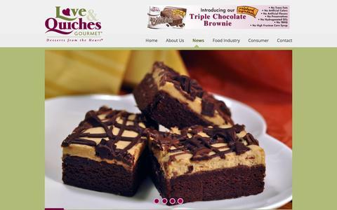 Screenshot of Press Page loveandquiches.com - Love & Quiches Gourmet Dessert & Restaurant News  Love and Quiches Gourmet - captured Feb. 1, 2016