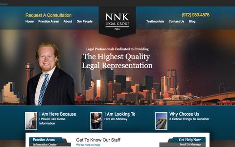 Screenshot of Team Page nnklaw.com - Our People | NNK Legal Group PLLC - captured Oct. 7, 2014